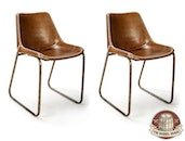 The Barrel Shack™ - The Stauntons - Set of 2 Handmade Leather Chairs