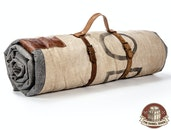 The Barrel Shack™ - The Luke - Handmade Throw Blanket With Leather Strap