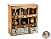 The Barrel Shack™ - The Barry - Handmade Wall Storage with Drawers