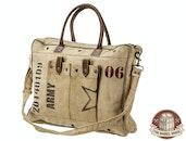 The Barrel Shack™ - The Jordan - Handmade Bag with Army Stamp