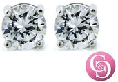 Mia Diamond-Simulated 1Ct. Sterling Silver Stud Earrings