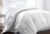 Luxury Linens™ Premium Super Plush Down Fiber Comforter - King/CalKing - White