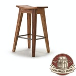 The Barrel Shack™ - The Reed - Handmade Wooden Bar Stool