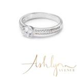 Ashlynn Avenue - Mia Caught a Star, Silver-Plated, 1 Ctw Ring - Size 7