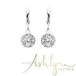 Ashlynn Avenue - Laurelai on a Summer Night, Silver-Plated, 1.2 Ctw Earrings