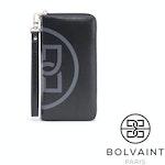 Bolvaint - Freya Black and Grey Motif Ziparound Wallet