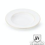 J.W. Krogman - Set of 6 Soup Plates in Fine Bone China - The Allingham Gold Tableware Collection