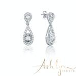 Ashlynn Avenue – Symphony Harper 18K White-Gold Plated 3.4 Ctw Teardrop Earrings