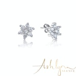 Ashlynn Avenue – Symphony Ava 18K White-Gold Plated 0.7 Ctw Summer Blossom Stud Earrings