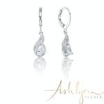 Ashlynn Avenue – Symphony Ella 18K White-Gold Plated 1.2 Ctw Paisley Drop Earrings