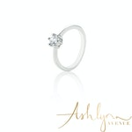Ashlynn Avenue - Symphony Luna 18K White-Gold 0.4 Ctw Plated Ring - Size 6
