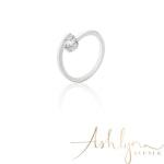Ashlynn Avenue - Symphony Lois 18K White-Gold Plated 0.4 Ctw Wrap Ring - Size 6