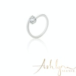 Ashlynn Avenue - Symphony Lois 18K White-Gold Plated 0.4 Ctw Wrap Ring - Size 7