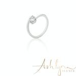 Ashlynn Avenue - Symphony Lois 18K White-Gold Plated 0.4 Ctw Wrap Ring - Size 7