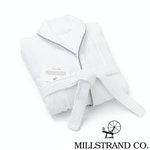 Millstrand Co. Island Bath Collection - Bathrobe, Morning White, XXL