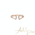 Ashlynn Avenue - Emrys 18K Rose-Gold Plated Wrap Ring 0.1 Ctw - Size 7