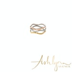 Ashlynn Avenue - Brooklyn 18K Trio Ring in White, Yellow and Rose Gold-Plated - Size 7