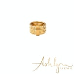 Ashlynn Avenue - Cortland 18K Yellow Gold-Plated Stack Ring - Size 6