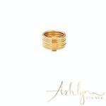 Ashlynn Avenue - Cortland 18K Yellow Gold-Plated Stack Ring - Size 8