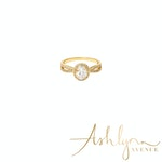 Ashlynn Avenue - Cortland 18K Yellow Gold-Plated Ring with Large Center Stone 1.36 Ctw - Size 7