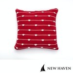 New Haven™ - Pure Cotton Knitted Pillow, Waves on the Shore