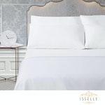 Isselle Auden Sheet & Duvet Cover Set - King - White Ivory