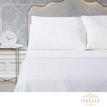 Isselle Beaufort Sheet & Duvet Cover Set - Queen - White Ivory