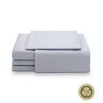 The Earth Company 100% Pure Organic Eco Cotton Whole Bedsheet & Duvet Set - King, Grey Mist