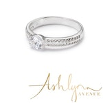 Ashlynn Avenue - Mia Caught a Star, White-Gold Plated, 1 Ctw Ring - Size 6