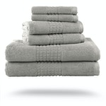 Robert Matthews - Maui Luxury Hotel Resort Bath Towels, Platinum Grey - Set of 6