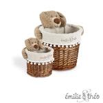 Emilie et Theo - Bay the dog round basket set