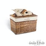 Emilie et Theo - Polo the sleepy bear lid basket