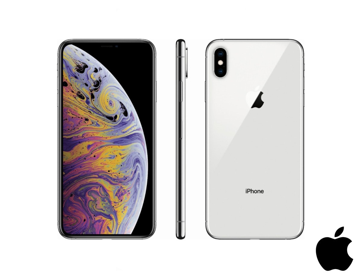 Apple® iPhone XS Max 256GB Silver + Verdict. Cables
