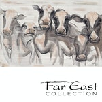 Pastures - Oil Painting from Far East Collection - 47.2-in x 31.5-in