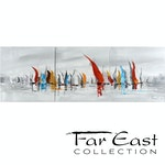 By the Bay - Oil Painting from Far East Collection - 59-in x 19.7-in