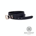 Bolvaint – Chloë Women's Leather Belt in Black Sable - 80 cm