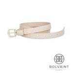 Bolvaint – Céleste Women's Leather Belt in Crème - 105cm