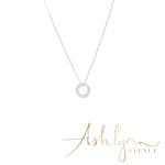 Ashlynn Avenue - Sofia 18K White Gold-Plated Sunburst Pendant 0.3 Ctw