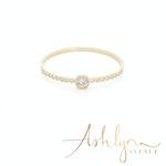 Ashlynn Avenue - Audrey 18K Gold-Plated Gemstone Bangle 7Ctw