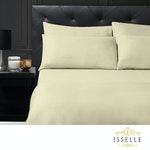Isselle Beaufort Sheet & Duvet Cover Set - Queen, Natural Beige (Ships by 5/30)