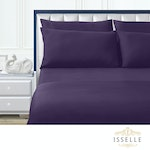 Isselle Auden Sheet & Duvet Cover Set - King, Midsummer Mauve (Ships by 5/30)