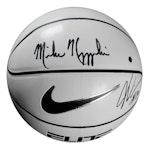 Steiner Sports - Mike Krzyzewski/Justise Winslow Dual Signed Nike Elite White Panel Regulation Basketball with Display Case