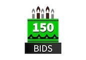 Special 150 Bid Pack! DealDash 10 years old!
