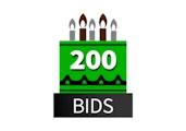 Special 200 Bid Pack! DealDash 10 years old!
