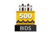 Special 500 Bid Pack! DealDash 10 years old!
