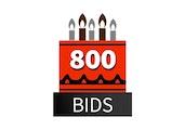 Special 800 Bid Pack! DealDash 10 years old!