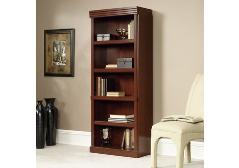 Sauder Heritage Hill 5-Shelf Library Bookcase, Cherry