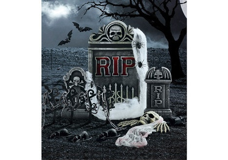 RIP Tombstone Set Halloween Decoration